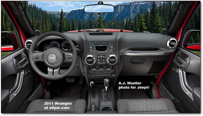 Wrangler Jeep Inside >> Revised Interior What A View You Can See From The Inside Of A