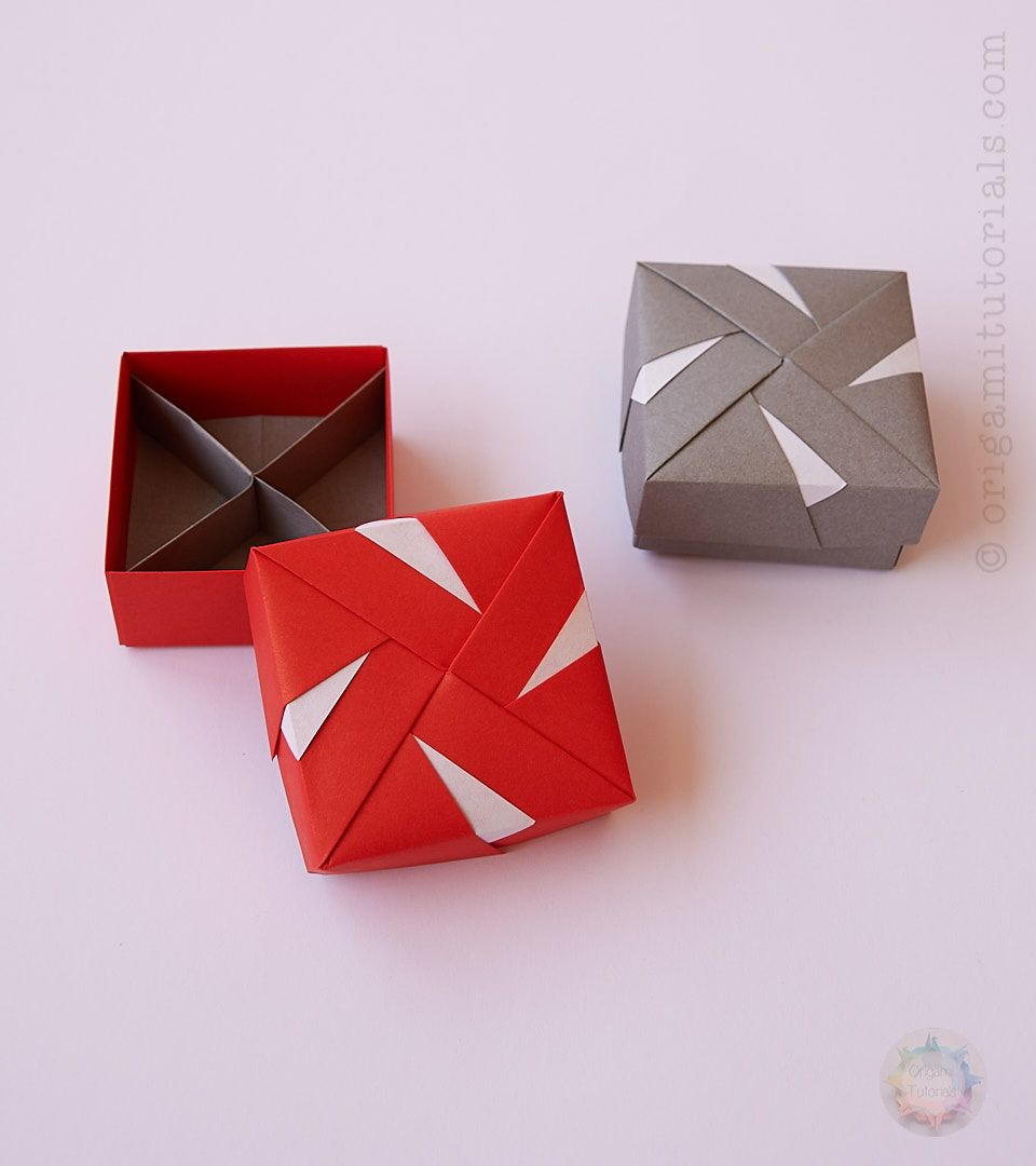 hight resolution of modular origami box tomoko fuse windmill pattern