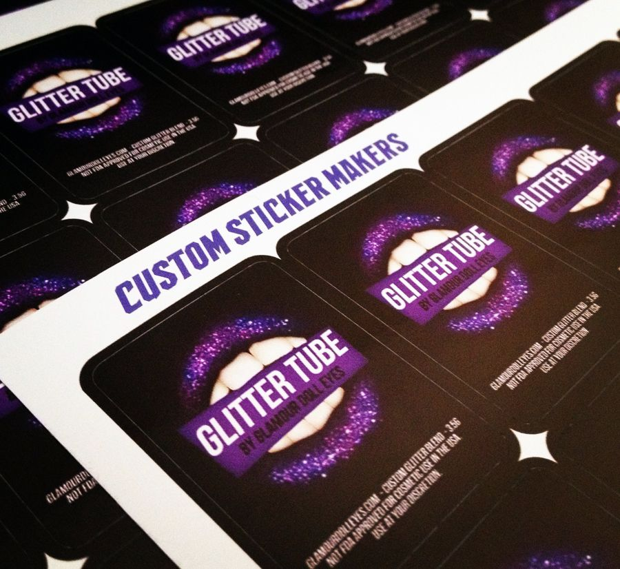 Custom labels for glamour doll eyes bumper stickers die cut stickers and decals printed on