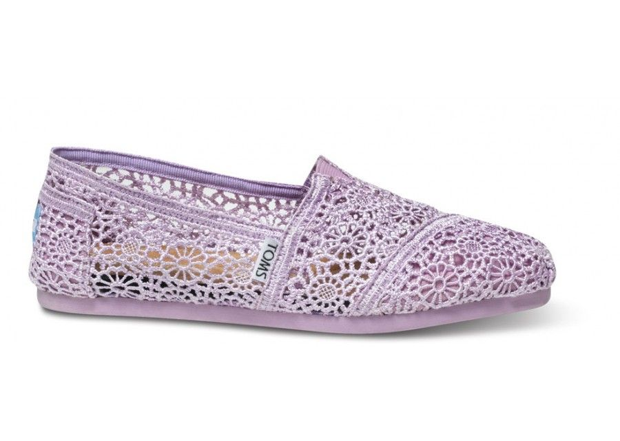 What matches a straw hat and a sundress better then a pale ladylike  crochet  TOMS Crochet Classics 6805525620d1