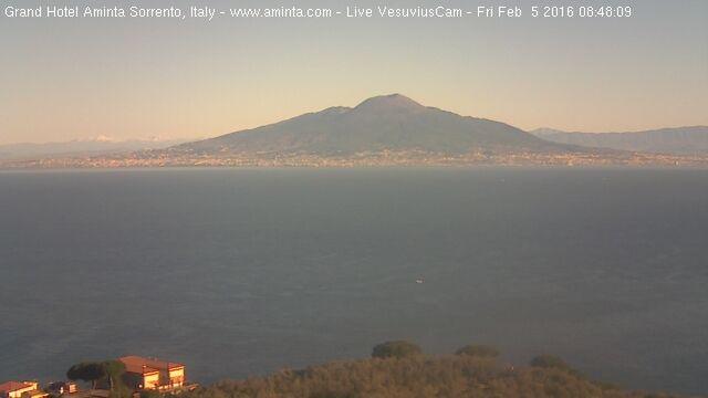 Vista del Vesuvio da Sorrento