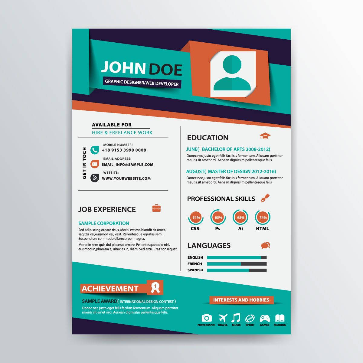 stylish resume template rockstarresume flyer job resume