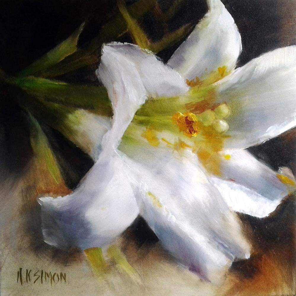 Ungilded Original Fine Art By Ak Simon Lilies Pinterest