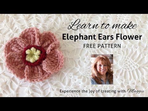 Elephant Ears Free Crochet Pattern - Right Handed - YouTube - Maggie's Crochet