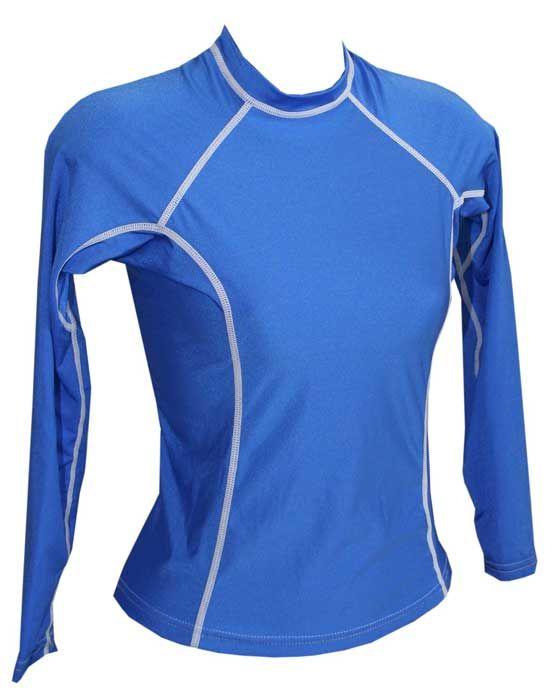db20aa2d0b4ad5 Womens Rash Shirt - Long Sleeve Royal Blue Rash Guard Women