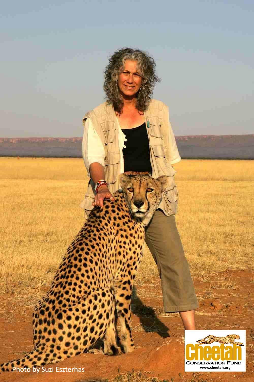Dr. Laurie Marker and Chewbaaka Cheetah