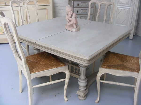 Une table de style henry 2 relooking meubles pinterest for Table salle a manger shabby chic