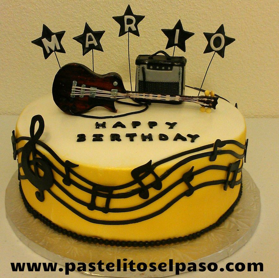 Outstanding Electric Guitar Birthday Cake Cakepins Com With Images Guitar Funny Birthday Cards Online Elaedamsfinfo