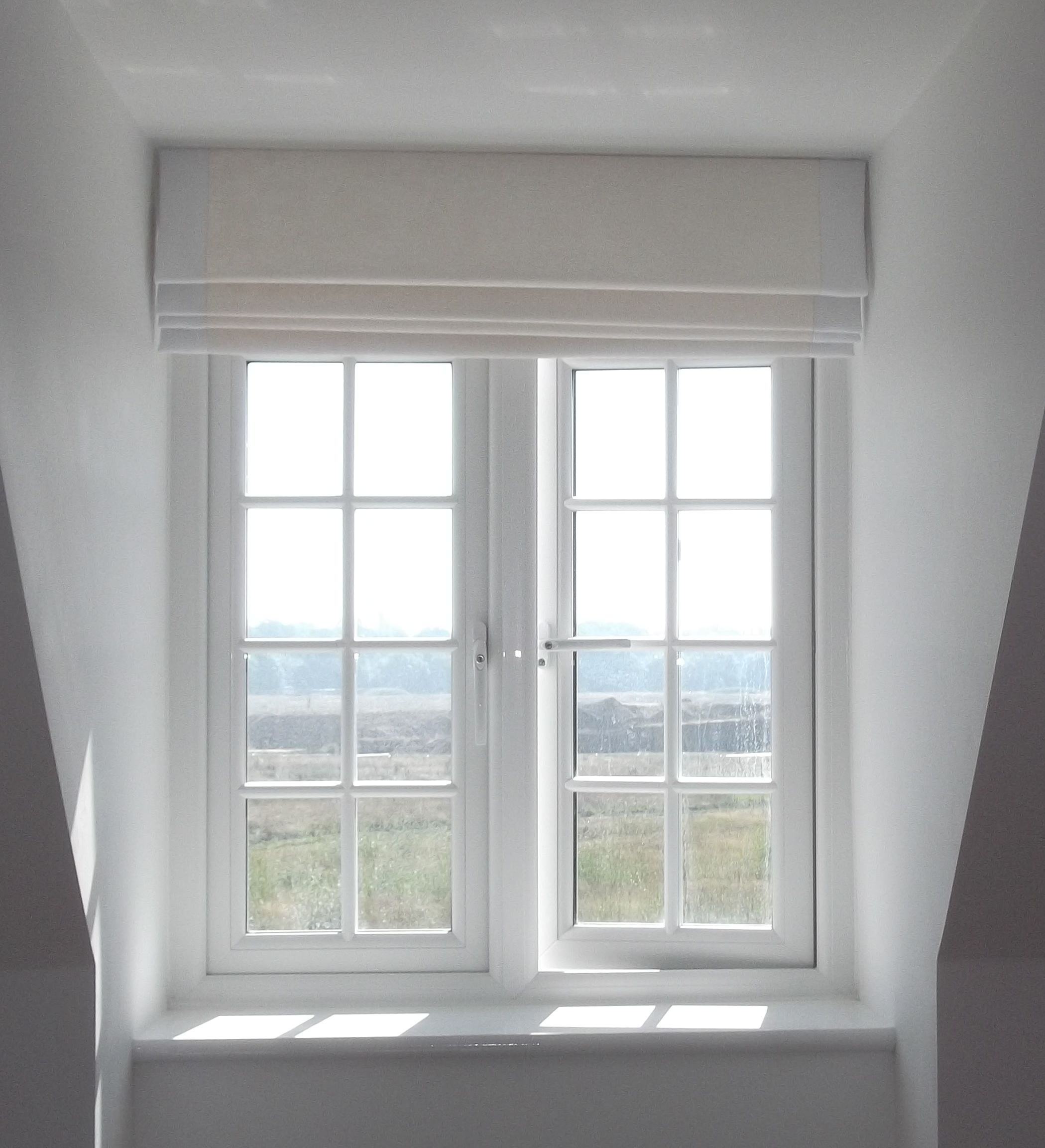Bathroom window blinds - A Roman Blind Fits Neatly Into This Dormer Window Where There Is Little Room For Curtains