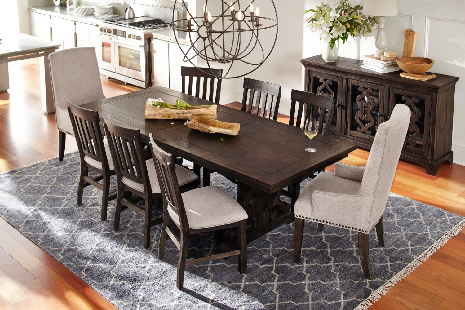 Charthouse Rectangular Dining Table And 4 Side Chairs Dining