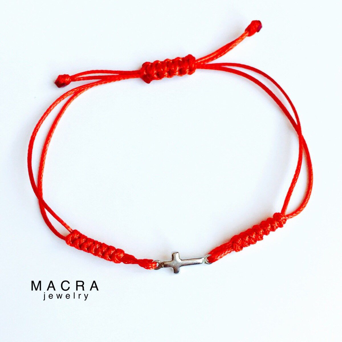 4809569557c128 Red String bracelet with Stainless steel cross charm. Red String Kabbalah  bracelet. Red string