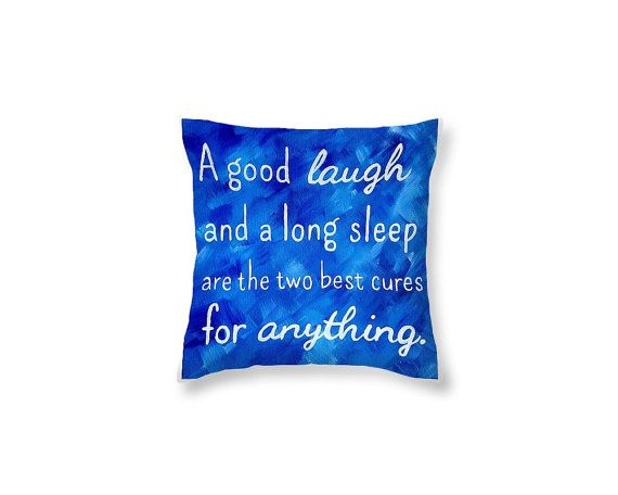 Decorative Pillows With Quotes Inspirational Quote Pillow Royal Blue Decor   Blue Throw Pillows  Decorative Pillows With Quotes
