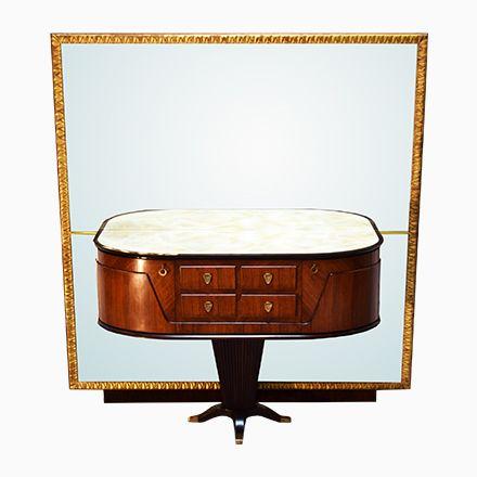Italienischer Konsolentisch mit Spiegel von Rima, 1950er Jetzt