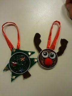 Tannenbaum Und Elch Aus Nespressokapseln Basteln Weihnacht