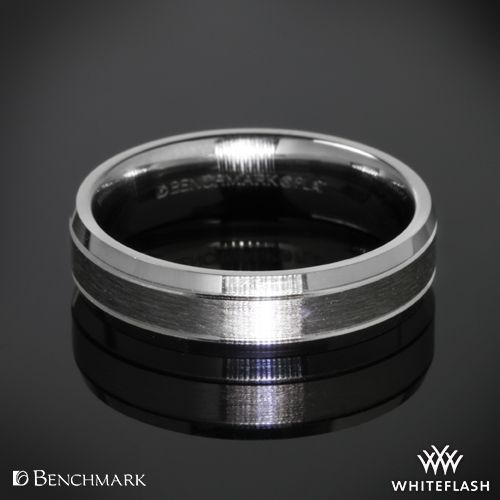 "Benchmark ""Carved Satin"" Wedding Ring."