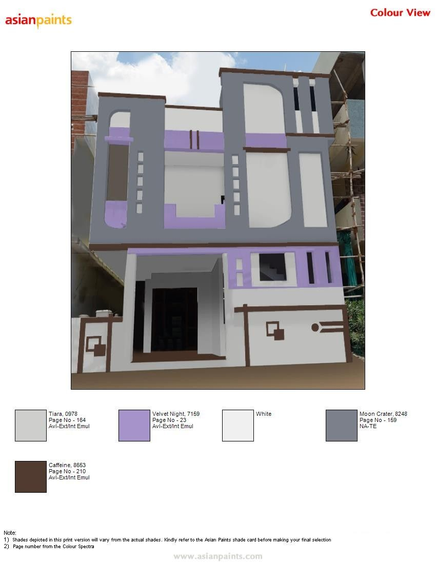 Pin By Saravanan On Top 200 Asian Paints Color Views Exterior Color Combinations Asian Paints Colours House Styles