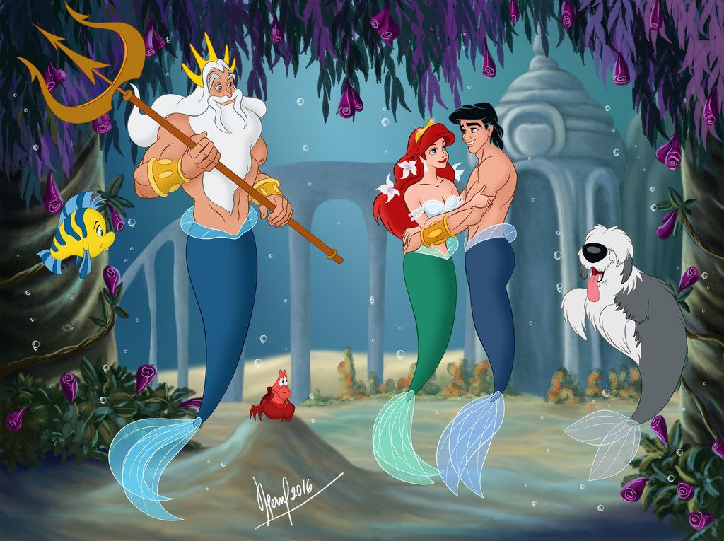 Haha If All Of The Characters Of The Little Mermaid Lived Under
