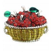 Apple Basket Pin Brooch