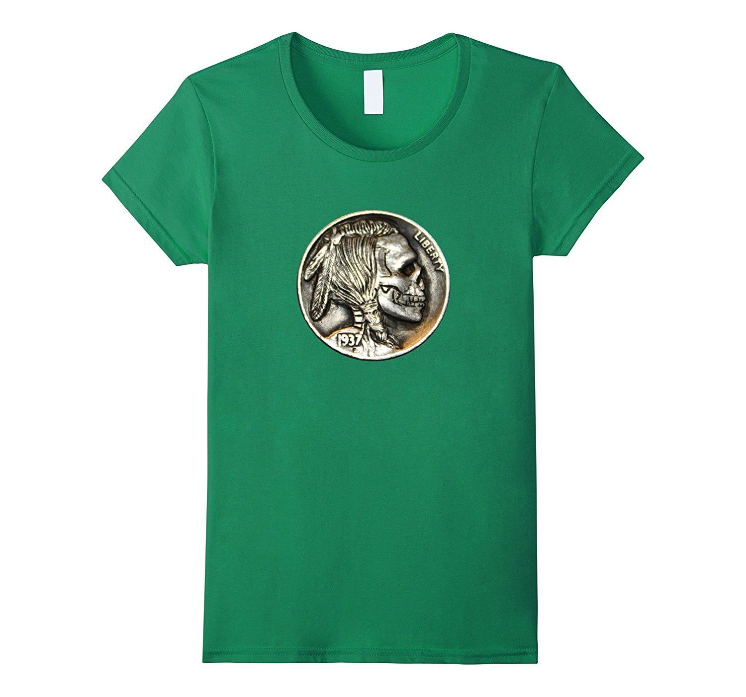 Indian Skeleton Skull Hobo Nickel shirt