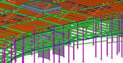Tekla precast concrete #detailing, Tekla precast panel, #shopdrawing