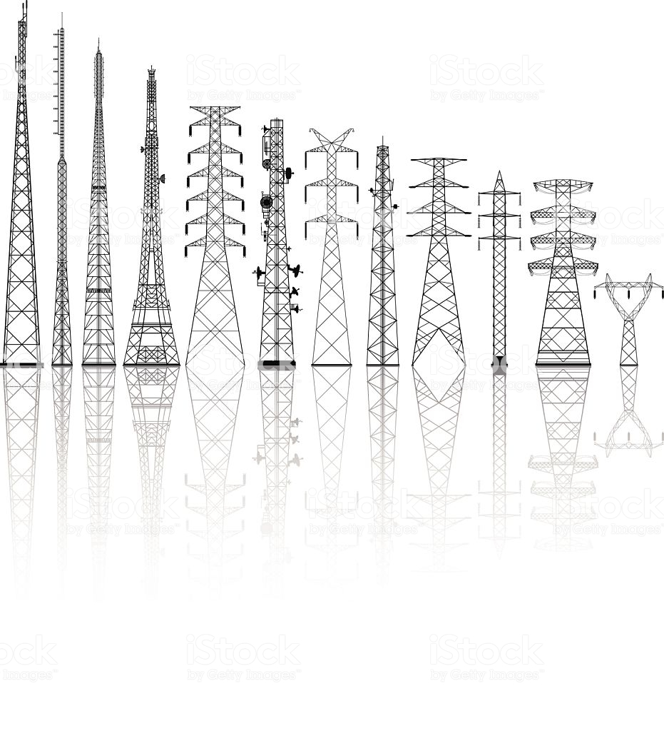 Telecommunications Towers Tower Vector Power Tower Design