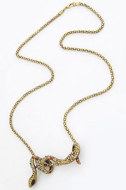 Lucky Snake Pendant Necklace #Romwe