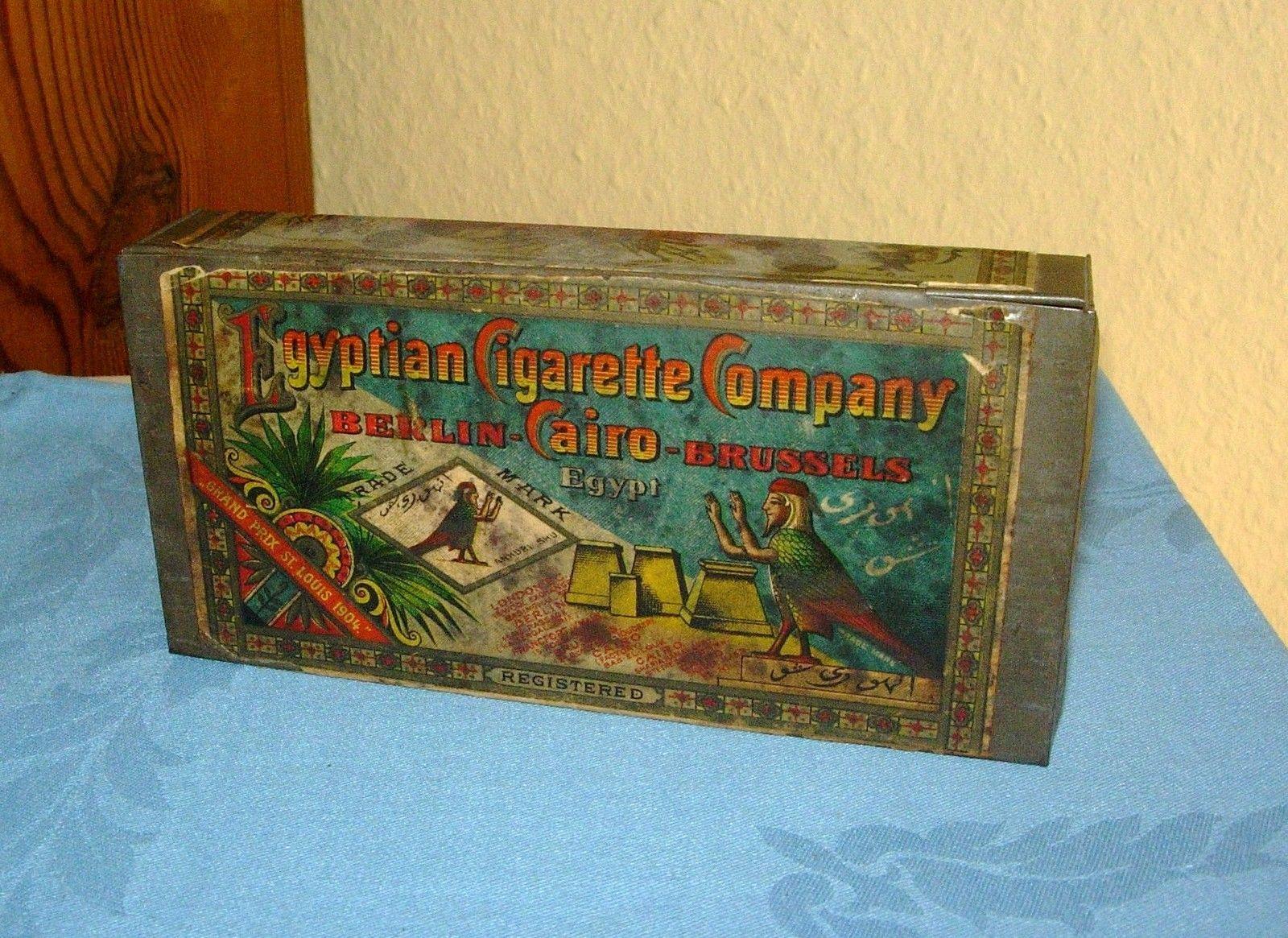 Alte Blechdose 50 Persimmon Cigaretten Egyptian Cigarette Company LithoTop RRR ! | eBay