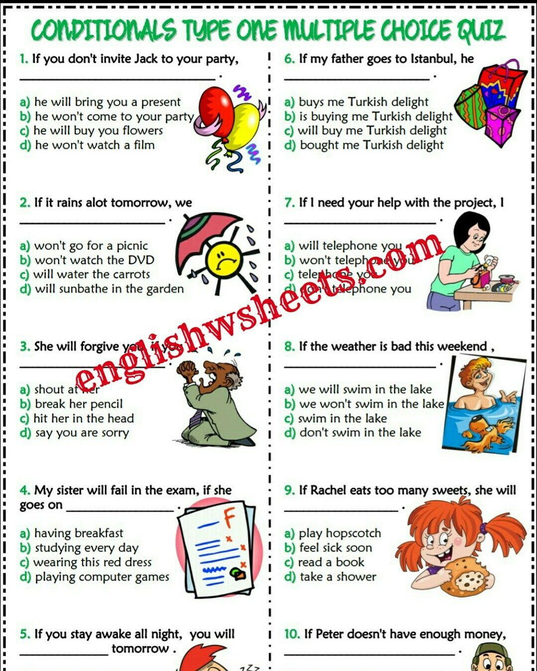ESL Printable Grammar Vocabulary Worksheets Exercises Handouts Quizzes  Activities Questions English Lesson Materials Resources Reading  Comprehension for ...