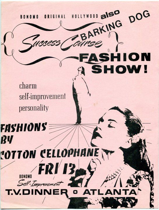 Fashion Show with Memphis new wave band, Barking Dog. Flyer created by Barking Dog, 1982.