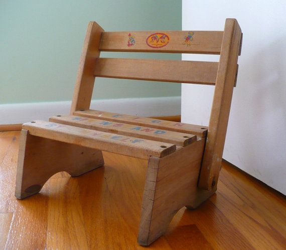 Awesome Reserved Vintage Childrens Step Stool And Wooden Drawer Theyellowbook Wood Chair Design Ideas Theyellowbookinfo