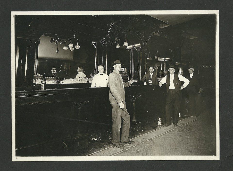 Early 20th century patrons of the historic College Inn bar located ...
