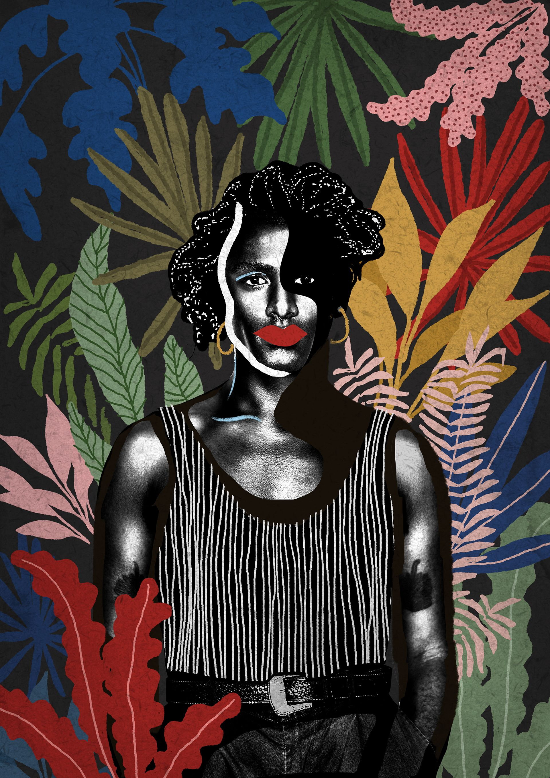 Liniker After Party Artwork Karen Hofstetter Collage Illustration Illustration Artwork
