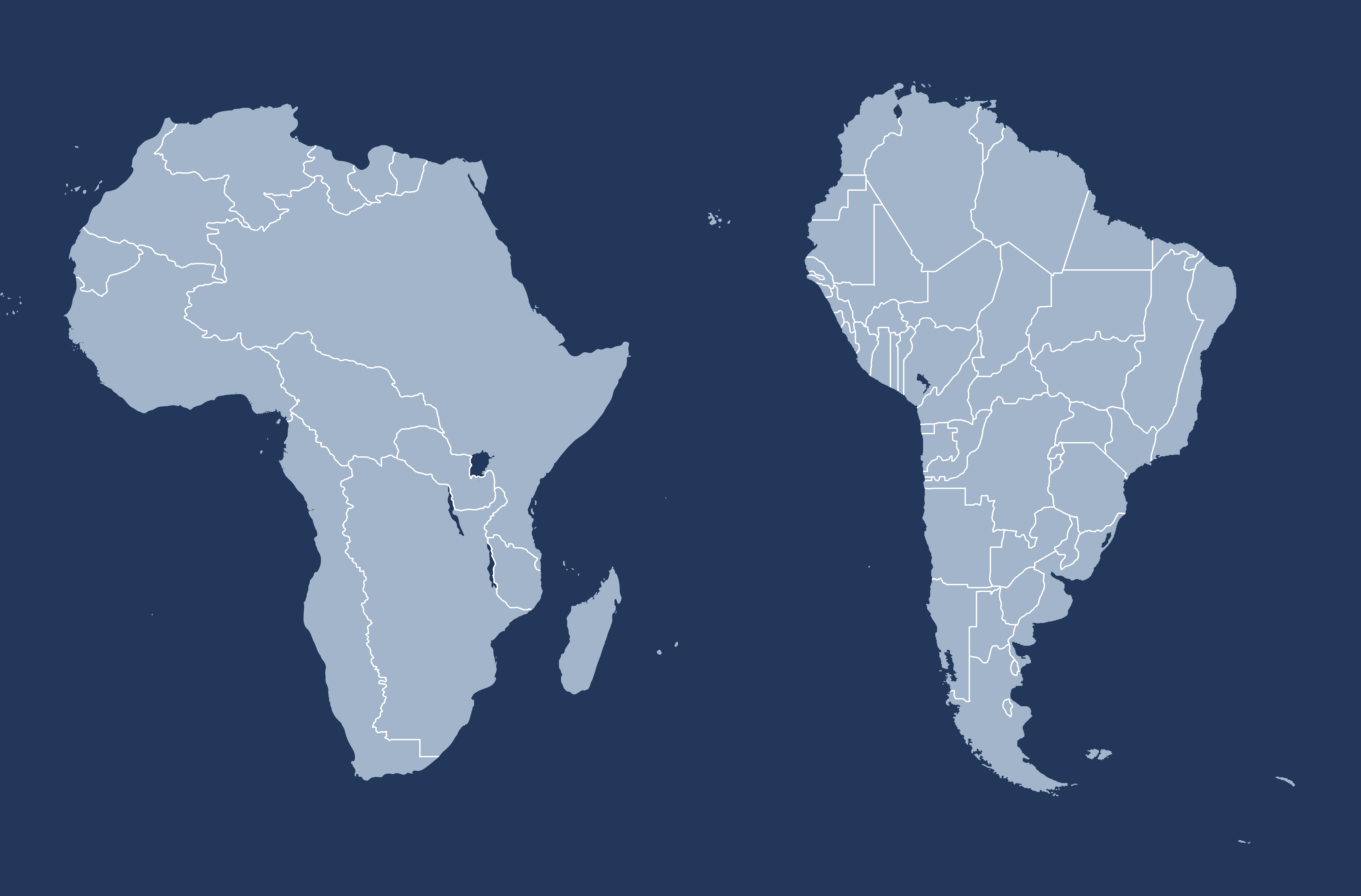 America And Africa Map Separated at birth : South America and Africa with switched