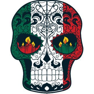mexican flag colors day of the dead sugar skull a toda madre in