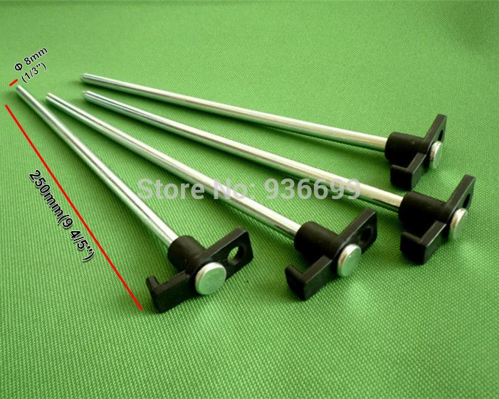 tent peg c&ing accesorries zinc plating steel peg travel kits stake nail 9 long DIA straight peg for softer grand : long tent pegs - memphite.com