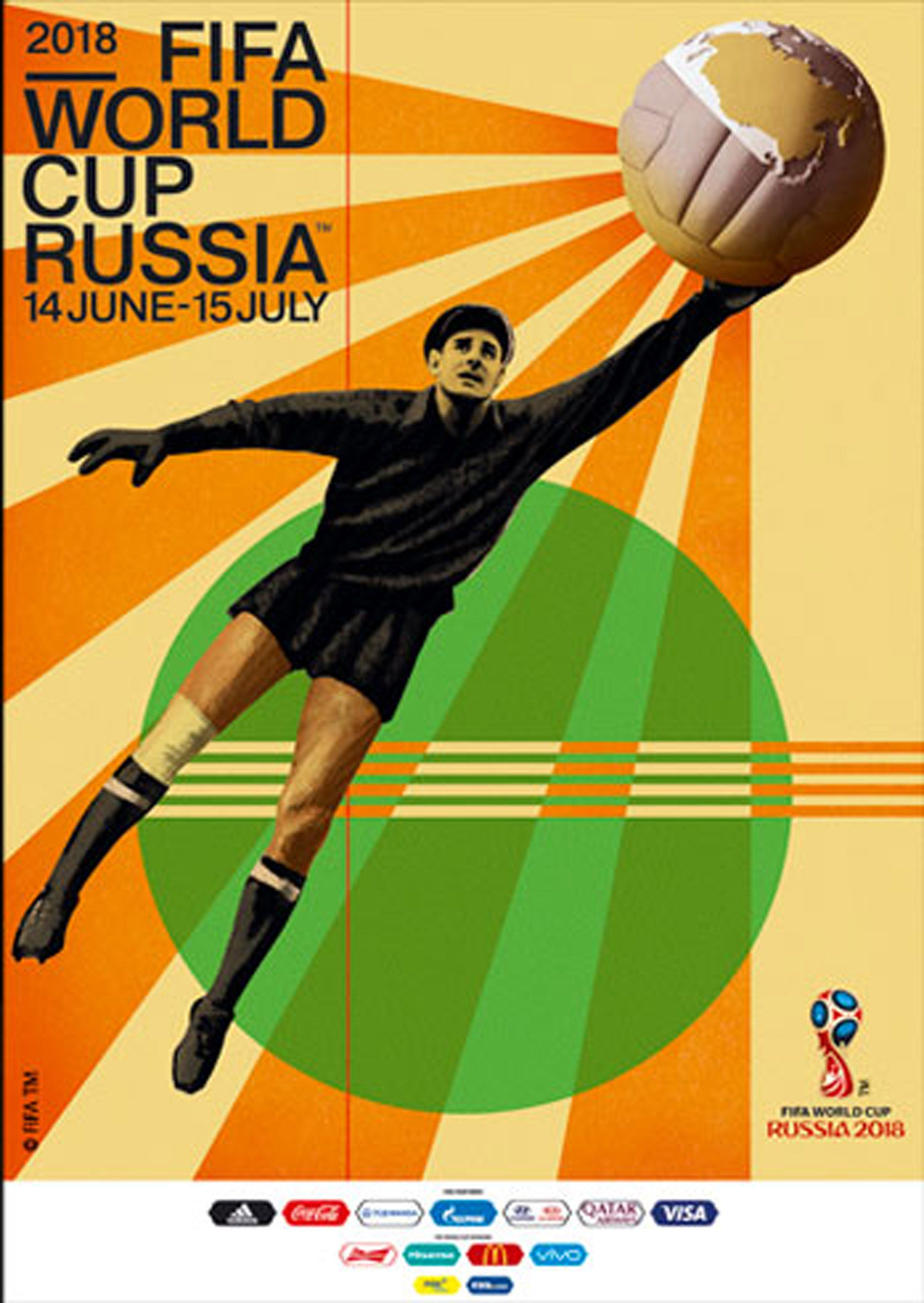 2c89ace86 Igor Gurovich designs retro poster for 2018 FIFA World Cup in Russia ...