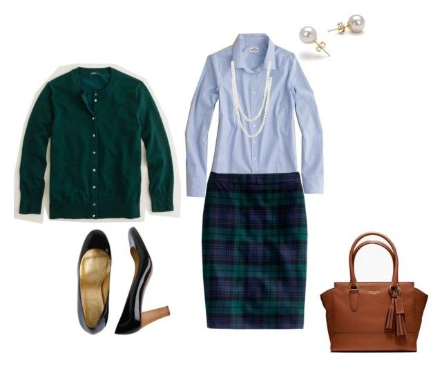 """""""Wearing 11-2-12"""" by kathyjz ❤ liked on Polyvore featuring J.Crew, Coach and Judith Jack"""