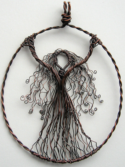 Louise Goodchild - Wire Wrapped Pendants