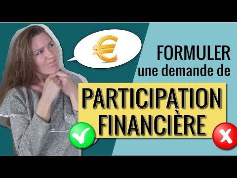 COMMENT FORMULER une demande de PARTICIPATION FINANCIÈRE à ses invités ? - YouTube | Formule ...