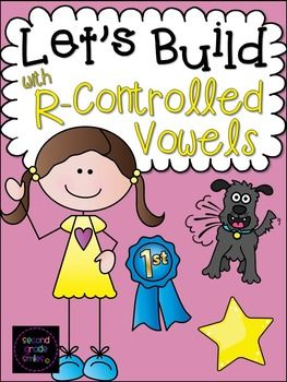 Let's Build with R-Controlled Vowels - This hands-on, r-controlled vowel resource pack includes 60 puzzles and 42 word building mats to help your students practice spelling words with r-controlled vowels ar, or, er, ur, and ir.  $