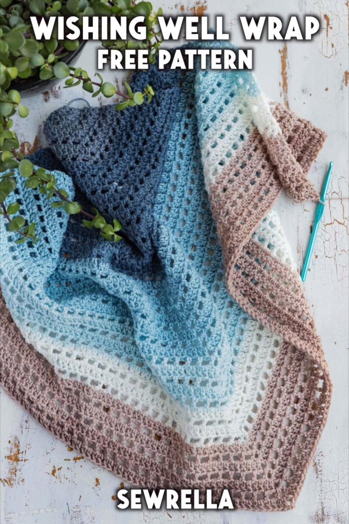 Photo of Crochet Wishing Well Wrap – free pattern