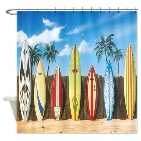 Bunches Of Surfboards Shower Curtain On Cafepress Com That Would