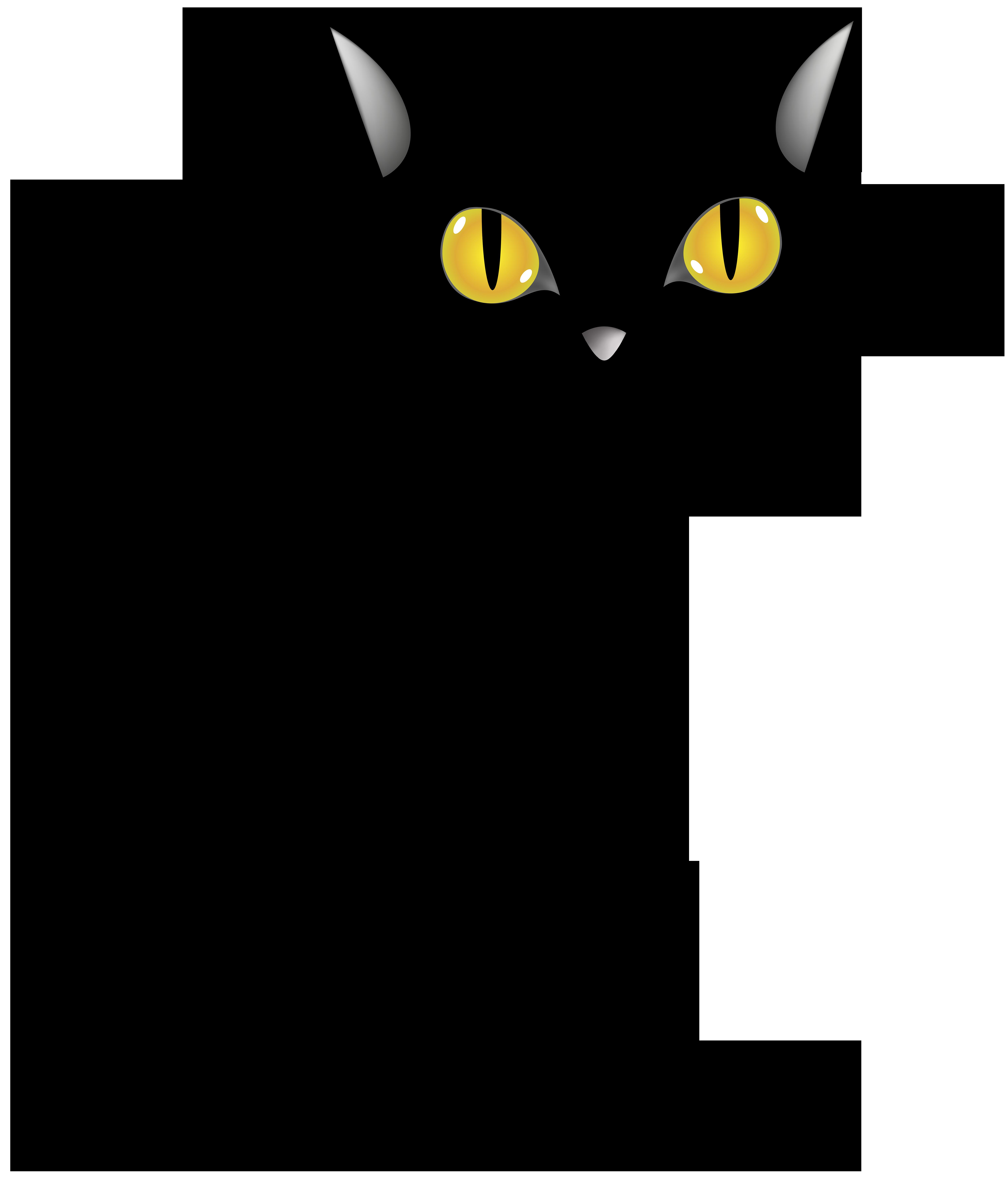 Halloween Black Cat PNG Clip Art Image | Gallery ...