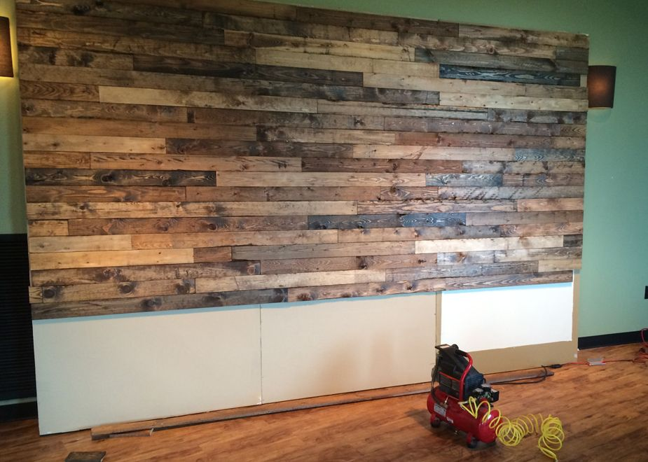 How To Distress Wood Create A Faux Pallet Wall Time For A