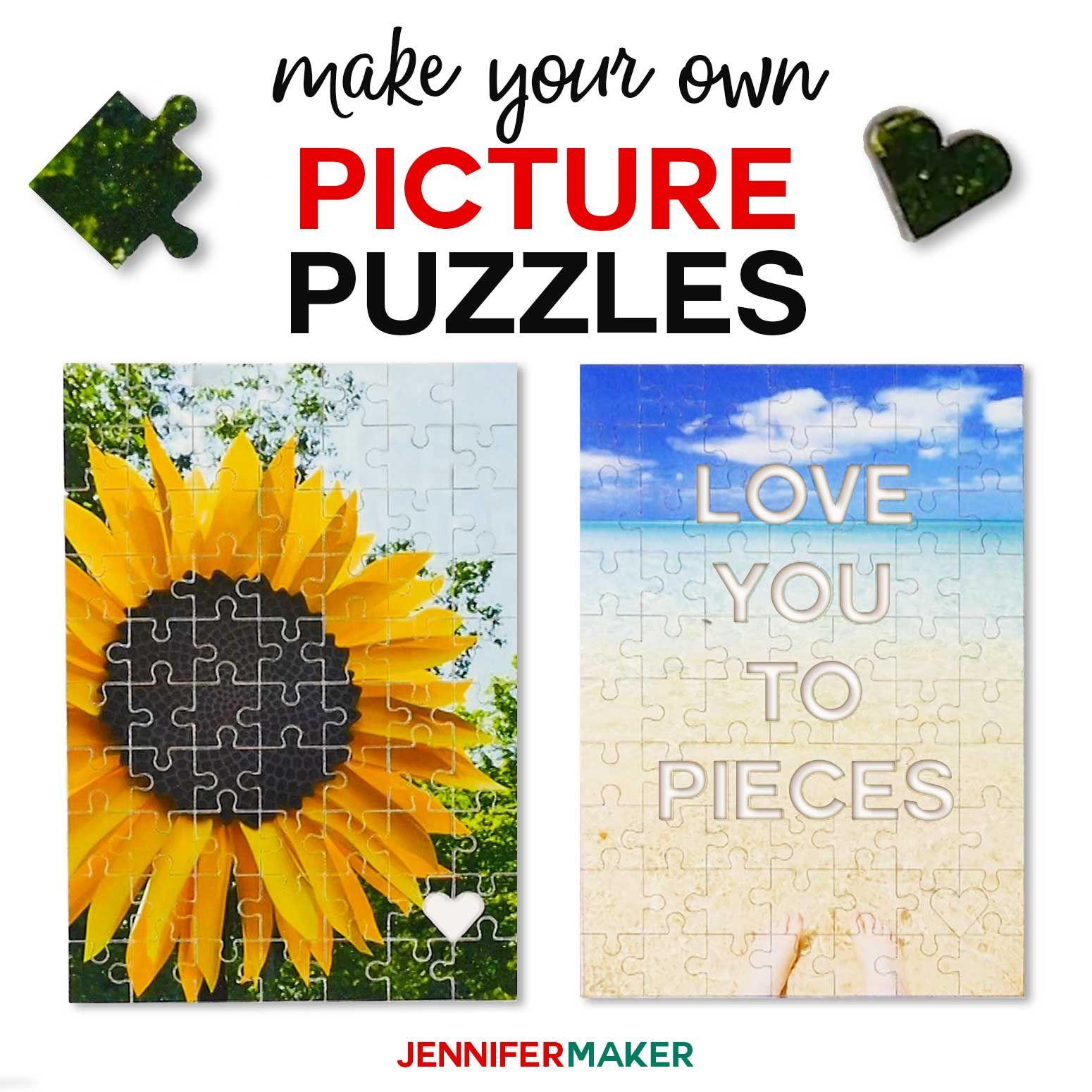 Make Picture Puzzles On Cricut A Hidden Message Puzzle