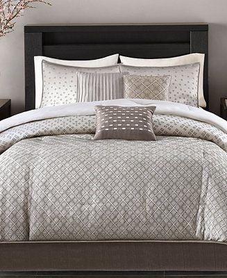 Madison Park Biloxi 7 Pc Geometric Jacquard Queen Comforter Set Reviews Comforter Sets Bed Bath Macy S Comforter Sets Bedroom Decor Cozy Queen Comforter Sets