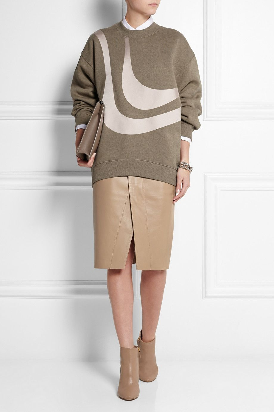 acne studios leather skirt 163 900 chlo 201 gold trimmed
