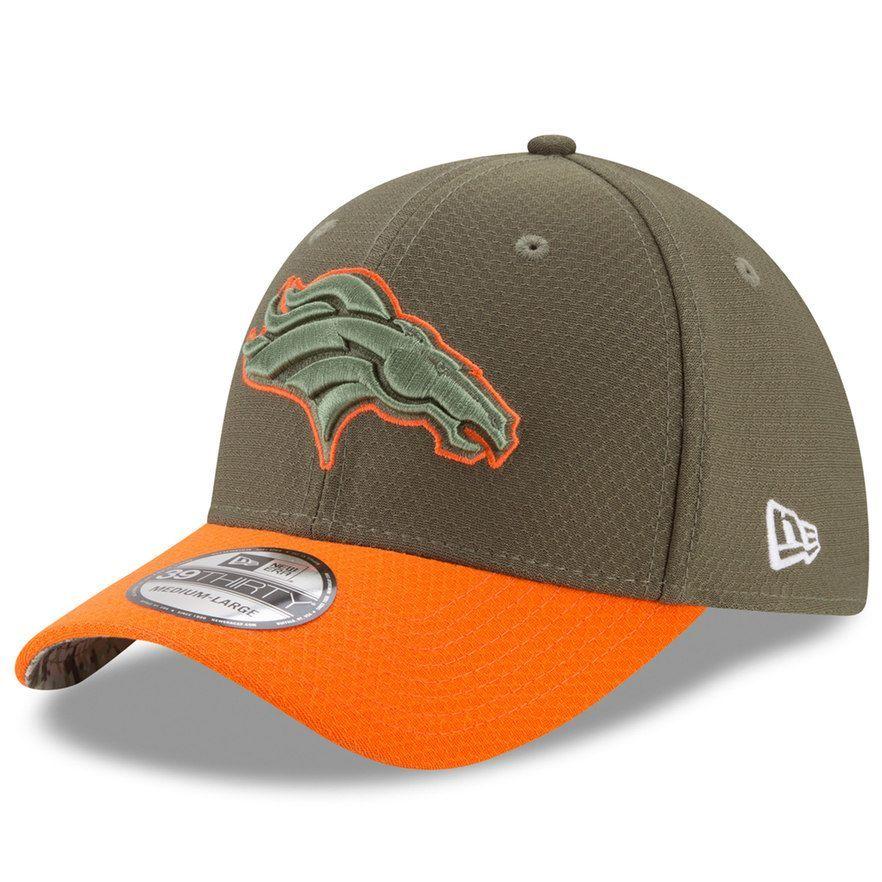 cheap for discount a04eb 06266 Adult New Era Denver Broncos 39THIRTY Salute to Service Flex-Fit Cap,  Men s, Size