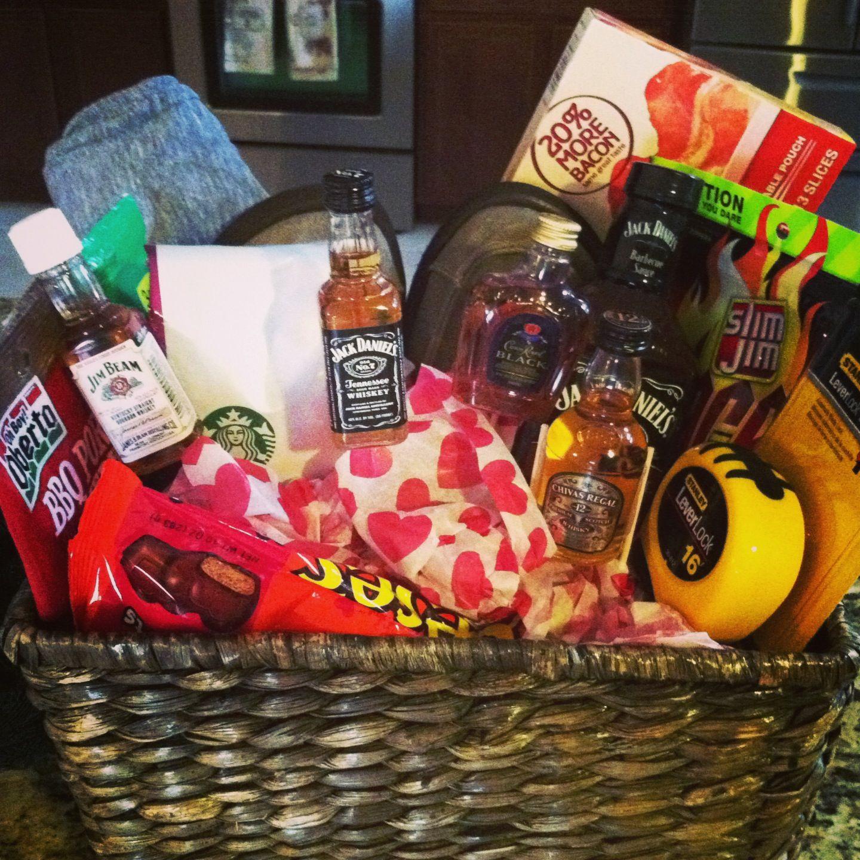 Valentines Day Gift Basket For Him Gift Ideas Pinterest Gift