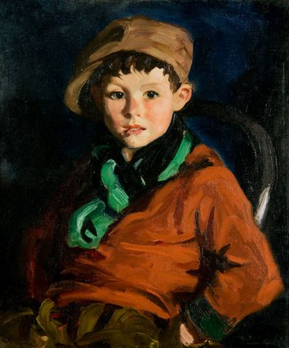 """Memorial Art Gallery Collection- """"Tom Cafferty"""", 1924 by Robert Henri. Currently on view 26.1"""